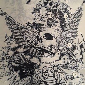 NWT Stella Tweed Skull Blouse